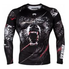 Рашгард  VENUM GRIZZLI RASHGUARD - LONG SLEEVES - BLACK/WHITE