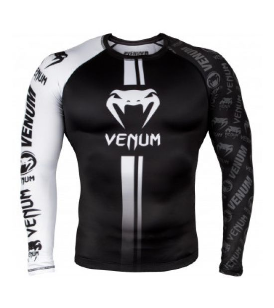 Рашгард  VENUM LOGOS RASHGUARD LONG SLEEVES - BLACK/WHITE