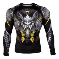 Рашгард VENUM VIKING 2.0 RASHGUARD - LONG SLEEVES - BLACK/YELLOW