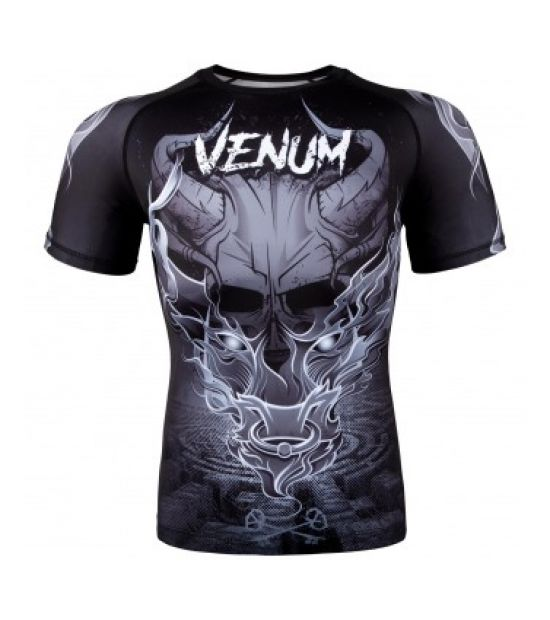 Рашгард VENUM MINOTAURUS RASHGUARD - SHORT SLEEVES - BLACK/WHITE