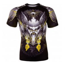 Рашгард  VENUM VIKING 2.0 RASHGUARD SHORT SLEEVES - BLACK/YELLOW