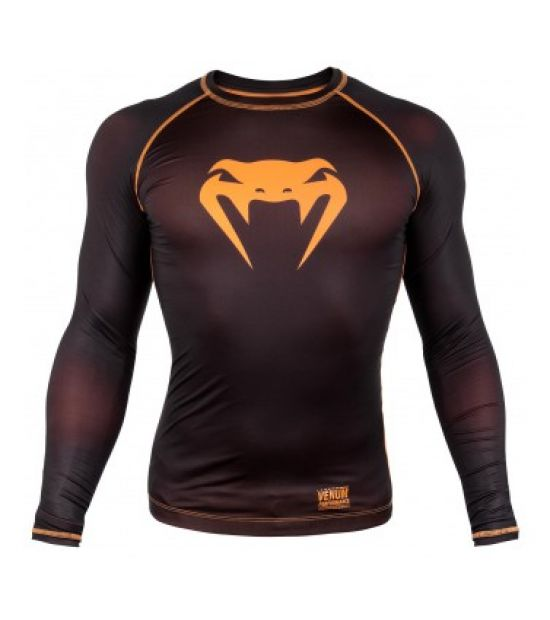 Рашгард  VENUM CONTENDER 3.0 COMPRESSION T-SHIRT - LONG SLEEVES - BLACK/NEO ORANGE