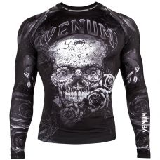 Рашгард VENUM SANTA MUERTE 3.0 RASHGUARD - LONG SLEEVES - BLACK/WHITE