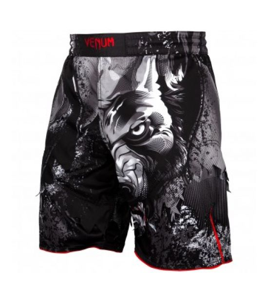 Шорты для ММА  VENUM WEREWOLF FIGHTSHORTS - BLACK/GREY