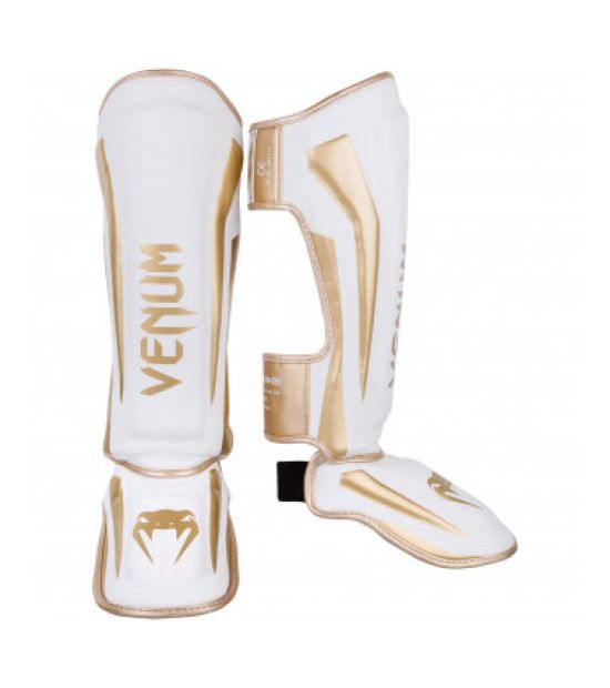 Накладки на ноги   VENUM ELITE STANDUP SHINGUARDS - WHITE/GOLD