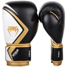 Боксерские перчатки VENUM BOXING GLOVES CONTENDER 2.0 - BLACK/WHITE-GOLD