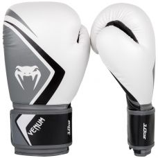 Боксерские перчатки VENUM BOXING GLOVES CONTENDER 2.0 - WHITE/GREY-BLACK