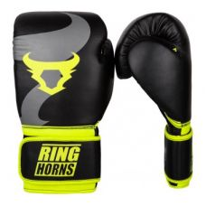 Боксерские перчатки  RINGHORNS CHARGER BOXING GLOVES - BLACK/NEO YELLOW