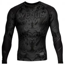 Рашград VENUM DEVIL RASHGUARD - LONG SLEEVES - BLACK/BLACK