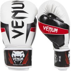 Боксерские перчатки VENUM ELITE BOXING GLOVES - BLACK/RED/WHITE