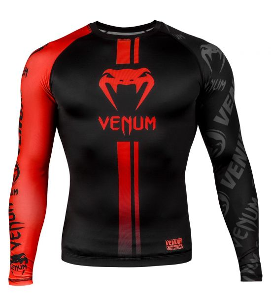 Рашгард VENUM LOGOS RASHGUARD - LONG SLEEVES - RED/BLACK