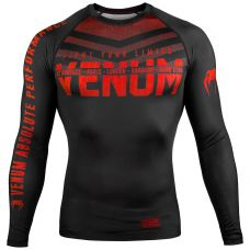 Рашгард VENUM SIGNATURE RASHGUARD - LONG SLEEVES - BLACK/RED