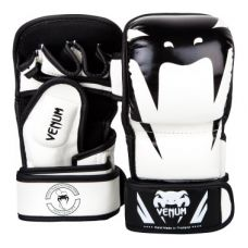 Перчатки для ММА  VENUM IMPACT SPARRING MMA GLOVES - WHITE/BLACK