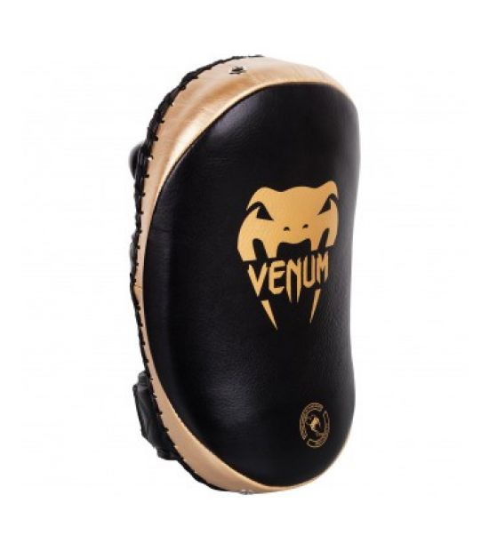 Пэды VENUM KICK PADS LEATHER-BLACK/GOLD