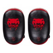 Пэды  VENUM KICK PADS LEATHER-BLACK/RED (100)