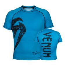Рашгард  VENUM ORIGINAL GIANT RASHGUARD - SHORT SLEEVES - CYAN/BLACK