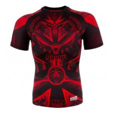 Рашгард  VENUM GLADIATOR 3.0 RED DEVIL RASHGUARD - BLACK/RED - SHORT SLEEVES