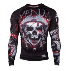 Рашгард  VENUM PIRATE 3.0 RASHGUARD - BLACK/RED - LONG SLEEVES