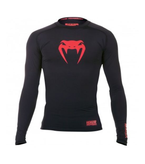 Рашгард VENUM CONTENDER COMPRESSION T-SHIRT - RED DEVIL - LONG SLEEVES