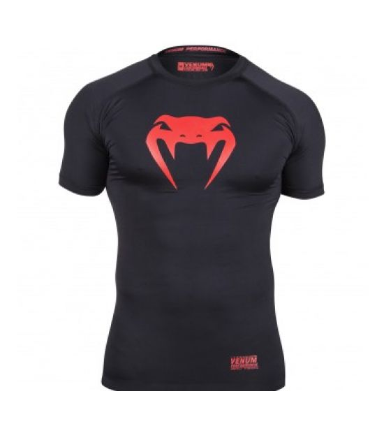 Рашгард VENUM CONTENDER COMPRESSION T-SHIRT - RED DEVIL - SHORT SLEEVES