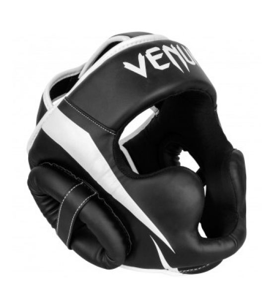 Боксерский шлем  VENUM ELITE HEADGEAR-BLACK/WHITE