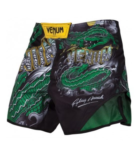 Шорты VENUM CROCODILE FIGHTSHORTS - BLACK/GREEN