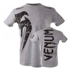 Футболка  VENUM GIANT T-SHIRT - GREY/BLACK