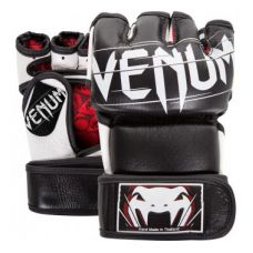 Перчатки для ММА  VENUM UNDISPUTED 2.0 MMA GLOVES - BLACK - NAPPA LEATHER