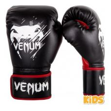 Боксерские перчатки  VENUM CONTENDER KIDS BOXING GLOVES - BLACK/RED