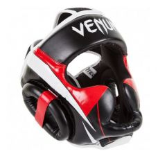 Боксерский шлем VENUM ELITE HEADGEAR - BLACK/RED/ICE