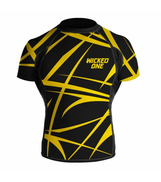 Рашгард Wicked One Claws Black/Yellow