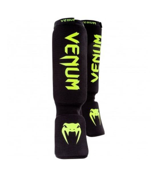 Накладки на ноги  VENUM KONTACT SHINGUARDS-BLACK/NEO YELLOW (116)
