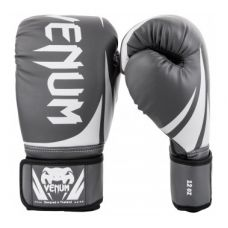 Боксерские перчатки VENUM CHALLENGER 2.0 BOXING GLOVES - GREY/WHITE-BLACK