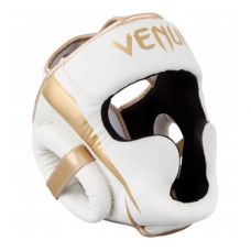 Боксерский шлем  VENUM ELITE HEADGEAR - WHITE/GOLD