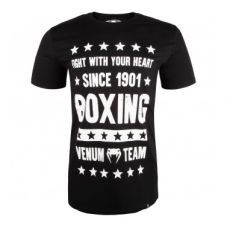 Футболка  VENUM BOXING ORIGINS T-SHIRT - BLACK