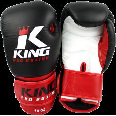 Боксерские перчатки BGK-1 blk-wht-red