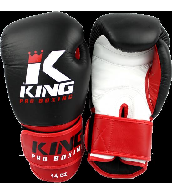 Боксерские перчатки King Pro Boxing BGK-1 blk-wht-red