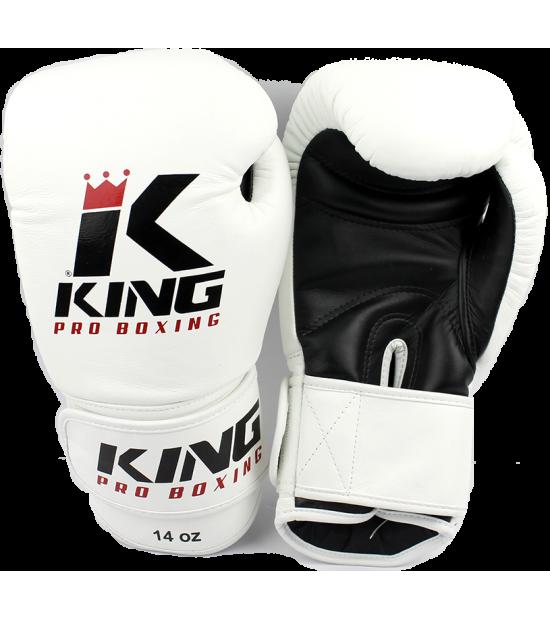 Боксерские перчатки King Pro Boxing BGK-2 white