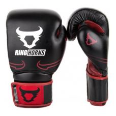 Боксерские перчатки  RINGHORNS DESTROYER BOXING GLOVES - LEATHER - BLACK/RED