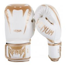 Боксерские перчатки VENUM GIANT 3.0 BOXING GLOVES - NAPPA LEATHER - WHITE/GOLD