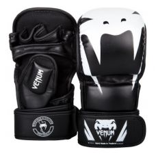 Перчатки для ММА  VENUM IMPACT SPARRING MMA GLOVES - BLACK/WHITE
