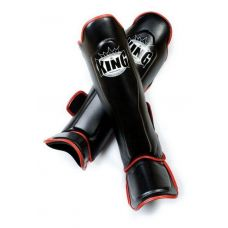 Накладки на ноги King Pro Boxing shinguard, PU-SGK-1 blk-red