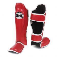 Накладки на ноги King Pro Boxing Shinguard, PU-SGK-6 red