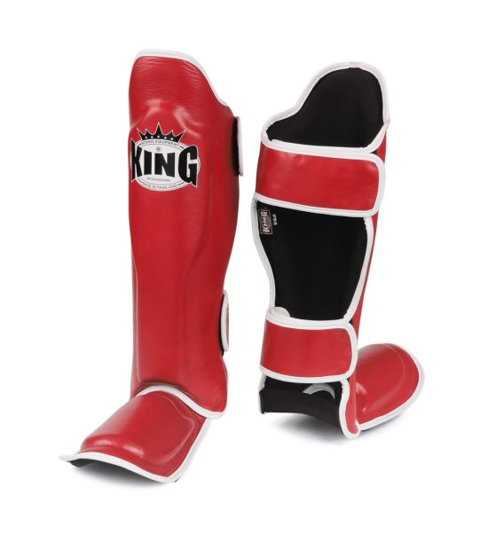 Накладки на ноги King Pro Boxing Shinguard, PU-SGK-6 red