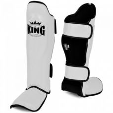 Накладки на ноги King Pro Boxing Shinguard, PU-SGK-2 white
