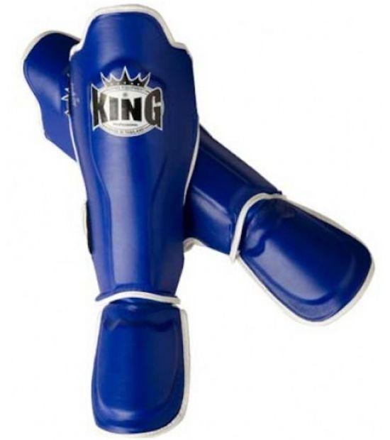 Накладки на ноги  King Pro Boxing Shinguard, PU-SGK-7-blue