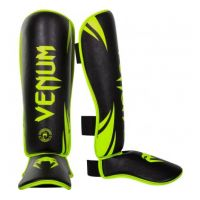 "Накладки на ноги VENUM ""CHALLENGER"" STANDUP SHINGUARDS - NEO YELLOW/BLACK"