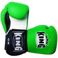 Боксерские перчатки King BGK-9 green/white