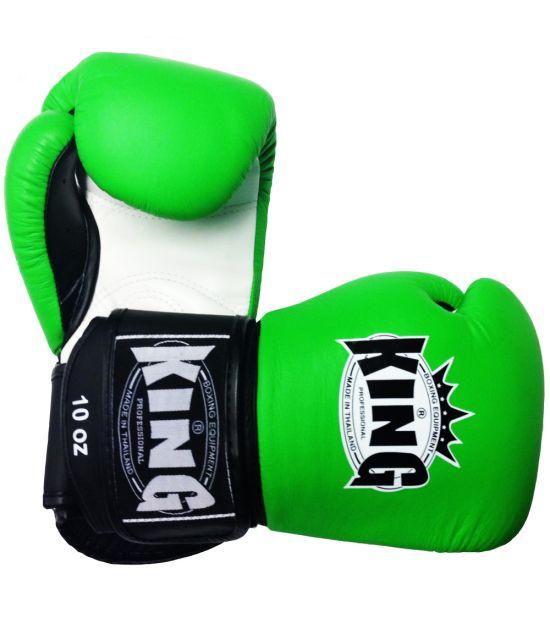Боксерские перчатки King Pro Boxing BGK-9 green/white