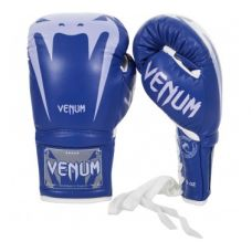 Боксерские перчатки VENUM GIANT 3.0 BOXING GLOVES - NAPPA LEATHER - WITH LACES - BLUE